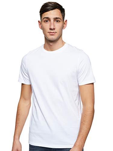 JACK & JONES Herren JJEORGANIC Basic Tee SS O-Neck NOOS T-Shirt, Weiß (White Detail: Slim), X-Large (Herstellergröße: XL)