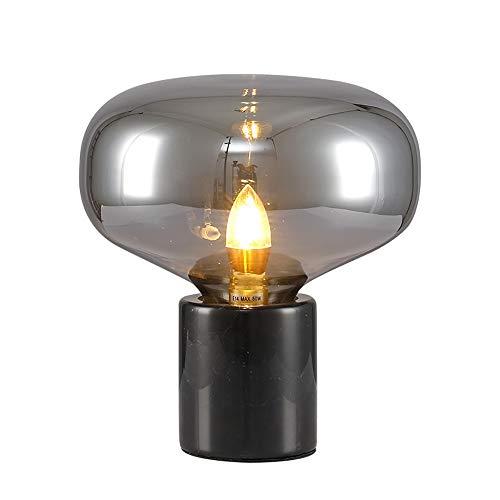 Lámpara de mesa Tyxl De Lujo De La Personalidad Moderna Lámpara Lámparas Sencilla Creativa Dormitorio Bola De Cristal De Hierro Forjado Manera De La Decoración Mesita De Noche Tibia