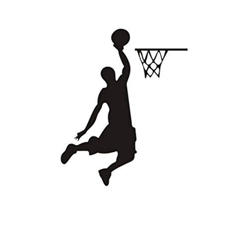 STPillow Wandstickers Cartoon-Basketbalspeler Donker voor hoofddecoratieve vinyl woonkamer-wanddecoratie sticker schakelsticker