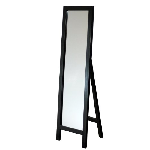 in budget affordable Mirror Head Waist Espresso Easel Mirror