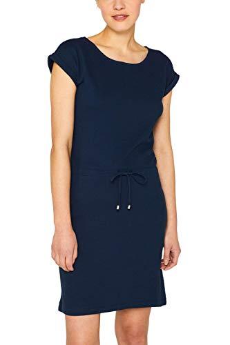 ESPRIT Damen 049EE1E004 Kleid, Blau (Navy 2 401), Medium (Herstellergröße: M)