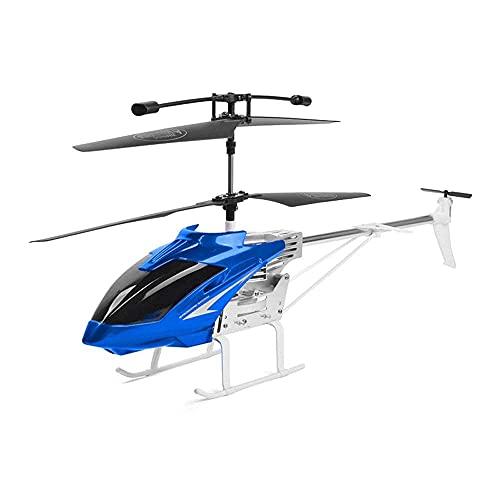 Aereo telecomandato in Lega 2,4 GHz Versione estesa Un Elicottero Grandi Dimensioni Drone a 3,5 canali Resistente a Cadute e Urti Modello Giocattolo per Bambini LED Luce Bicolore