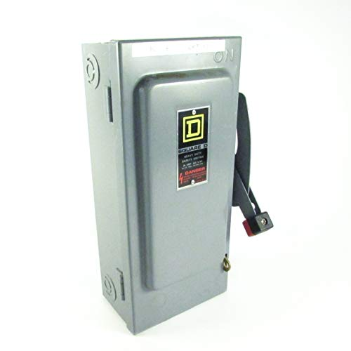 hu361Square D 30Amp, nicht Fused, 3Pole, Heavy Duty, Safety Disconnect Switch, Indoor, Nema 1, 3p