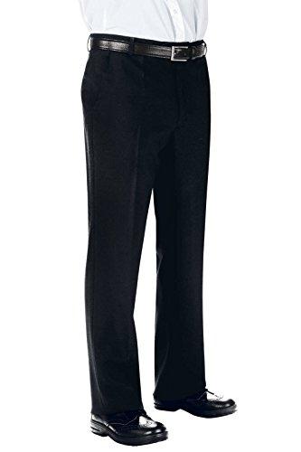 Isacco pantalon homme sans pinces Noir, Noir, 40, 100% polyester, 170 gr/m²