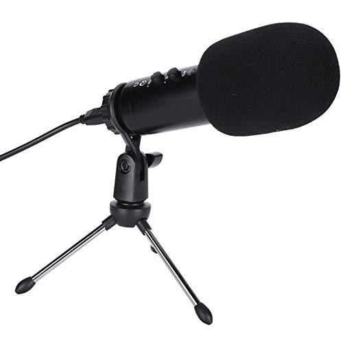 Haowecib Kit de micrófono de grabación para Juegos, Kit de micrófono de Condensador Digital, Karaoke de podcasting USB para Juegos en Vivo