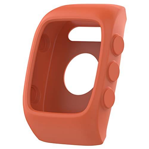 Baluue Compatible para Polar M400 M430 Funda - Funda Protectora de Silicona para Reloj Inteligente Cubierta de Banda de Repuesto Manga Protectora - Naranja