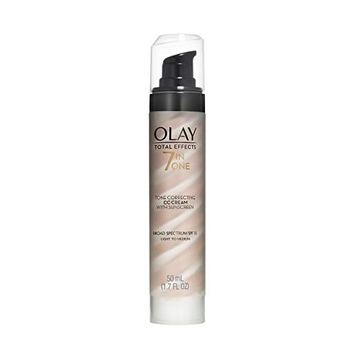 Olay CC Cream - Total Effects Tone Correcting Moisturizer with Sunscreen Broad Spectrum SPF 15, 1.7 Fluid Ounce by Olay