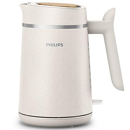 Philips HD9365/10 Conscious Collection Wasserkocher, biologischer, 100{3165878f09916cf74655a6e2364cd2f1ac5ca6013fa0c0334b04011e682782c9} recycelter Kunststoff, Nachhaltig, 2.200 Watt, 1,7 l Füllmenge, Creme