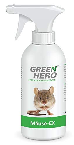 Green Hero Mäuse-Ex Spray zur Mäuseabwehr, 500 ml, Fernhaltemittel gegen Mäuse, Alternative zur Mausefalle, Abwehrspray mit Barrierewirkung