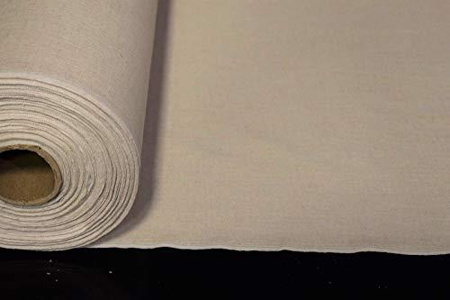 by The Yard- Shirting Linen Flax Fabric Organic Oatmeal Beige 5 OZ. Natural Fiber 54