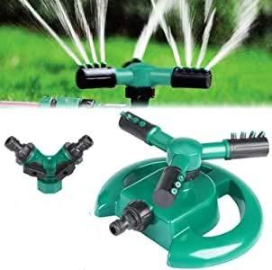 Garten Sprinkler, Rasensprenger Rasen Wasser Sprinkler 360°3-Arm Drehender Garten Wasser System Sprenger sprinklersystem