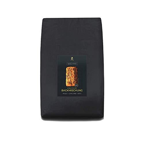 Seed Mix Mezcla para hornear pan - paquete preparacionistas 25 panes | 4g. carbohidratos | Sin cereales | Sin gluten | Para Paleo, Keto, Low Carb y desarrollo muscular | para diabético
