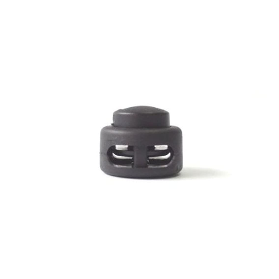 出血大佐マスクDue emme Disco プラスチック コードストッパー 直径約3mm用 2つ穴タイプ コード、紐、ゴムの長さ調節などに