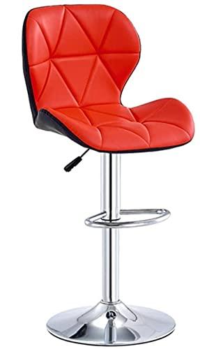 JYHS - Sgabello da bar regolabile in altezza, con schienale in pelle PU, girevole, per sala riunioni, ufficio, sala business e bancone (colore: A9, dimensioni: 60-80 cm) (colore A2, dimensioni:
