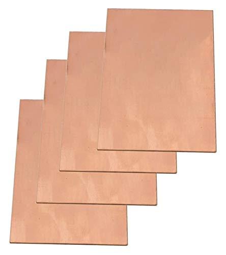 NIANXINN Placa de Cobre Pura Placa de Cobre Hoja de Cobre T2 Hoja de Metal Foil Foil Materiales industriales 55 * 100 * 1mm Hoja de Cobre Puro