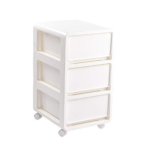 TSHG stapelbare plastic ladekast met 4 draaibare wielen, 2 en 3 opbergdozen zijn optioneel, bespaart ruimte, geschikt voor woonkamer en slaapkamer