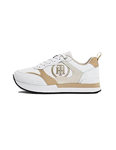 Tommy Hilfiger Feminine Active City Sneaker, Zapatillas Mujer, White, 40 EU