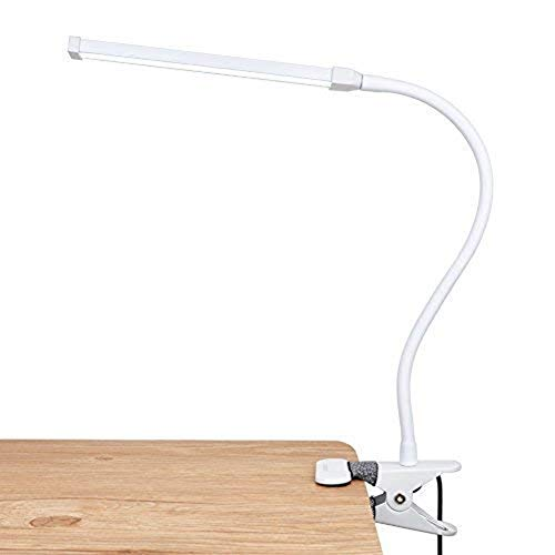 LEPOWER Led Clip on Lamp/Reading Light with Gooseneck 5W Piano Light Color Temperature Changeable Clip Light (White)