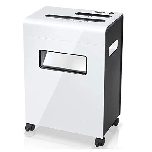 HDDFG Suministros de Oficina Papel de Corte Transversal de 8 páginas y trituradora de Tarjetas de crédito 16 litros Capacidad de Papel de desechos 330 * 195 * 495mm Trituradora de Papel, Micro Cut