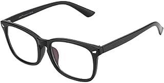 Cyxus transparent lunettes, Retro Mode Lunettes Homme et Femmes (noir mat cadre) Non degré de lunettes
