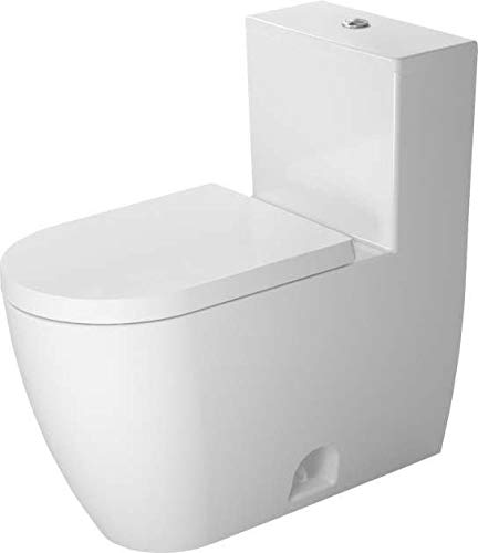 Duravit 2173010001 - One-piece toilet ME by STARCK white Dual flush, elongated, siphon jet
