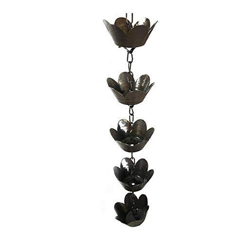 Rain Gutter Chain Metallkette Flower Hanger Rain Chain Kit Bewässern Sie die Kette für die Erweiterung des Sammelbechers