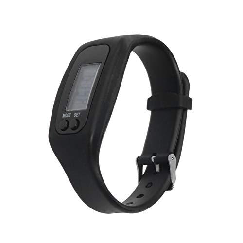 NICERIO Fitness-Tracker - 2 STK. 3D-Digitaluhr-Schrittzähler zum Gehen und Laufen einfache Bedienung präziser Schrittzähler mit Kalorienverbrauch und Datumsanzeige schwarz