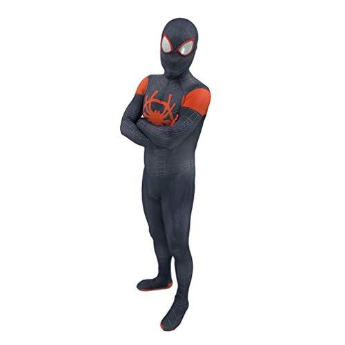 Luxe film kostuum Superheld Spiderman kostuum kleding kinderen heren kinderen volwassen Cosplay Party Avondjurk Prom nauwe kleding SPIDERSYBB Kids-L(120-130) zwart