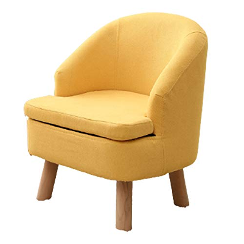 Single Sofa, Modern Style Armchair, Leisure Single Chair with Wooden Legs, with Padded Backrest, Used in Living Room, Bedroom And Small Spaces,yellow