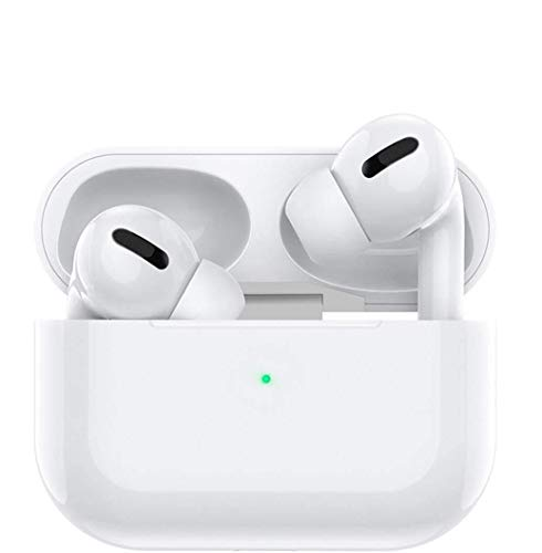 Auriculares inalámbricos, auriculares bluetooth con reducción de ruido con caja de carga(blanco)