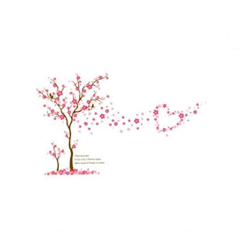lulongyansf Wandaufkleber romantische Plum Blossom Baum-Muster-Aufkleber Personality-Kunst-Aufkleber Removable Aufkleber für Raum-Ausgangsdekoration für DIY