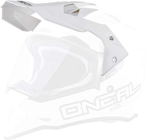 O\'NEAL   Motorrad-Helm-Ersatzteile   Street Adventure Motocross   Ersatzschirm Sierra Flat   Visor Sierra Helmet Flat   Weiß   One Size