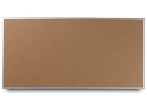 EverWhite High Density Cork Aluminum Framed Bulletin Board, 4' Height x 10' Length, Natural (T7600-4X10 Natural)