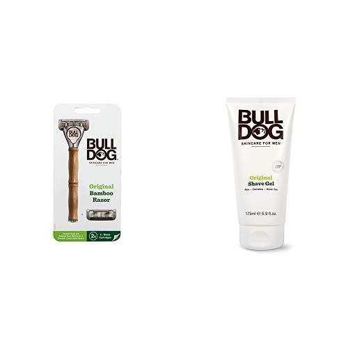 【セット買い】Bulldog(ブルドッグ) ブルドッグ Bulldog 5枚刃 オリジナルバンブーホルダー 水に強い竹製ハ...
