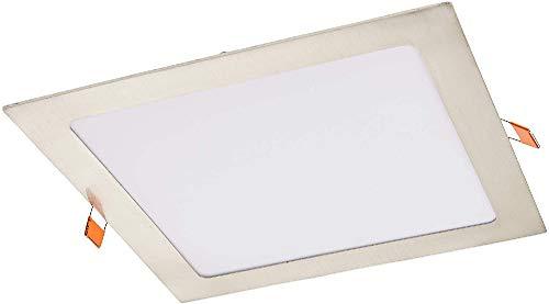 Led Spot encastrable carré 220Vacier18Wblanc neutre 4200Kpour salle de bain et salon [Classe énergétique A++]