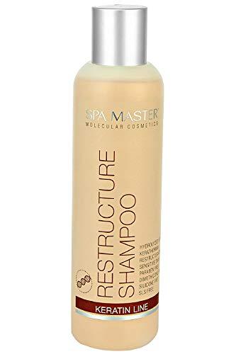 Spa Master Shampoo mit Keratin Umstrukturierung von Haar 250 ml Keine Silikone, Sulfate und Parabene