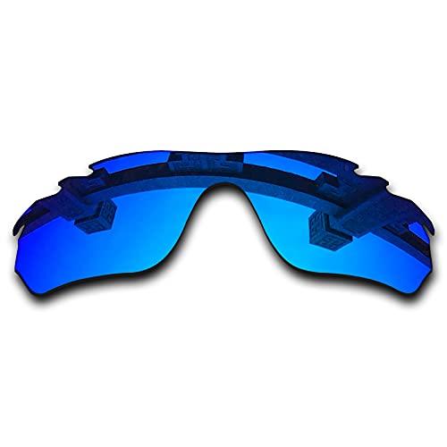 SYEMAX Lentes de repuesto para espejo polarizado, compatibles con Oakley RadarLock Edge ventilado (OO9183) Sunglass - Múltiples opciones, (Azul hielo no polarizado.), Talla única