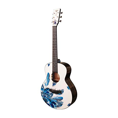 Tyma V-3E Mini Plume - Guitarra de viaje con pastilla...