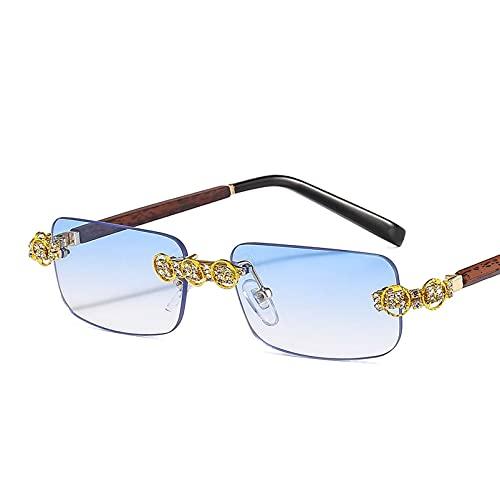 AMFG Gafas De Sol Con Diamante De Diamante De Dibujos De Diamante De Diamante De Diamante Con Marco Cuadrado Gafas De Sol Personalizadas For El Templo (Color : C, Size : M)
