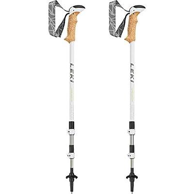 Leki Women's Cressida Poles-Nacre/Green/Anthracite, Size 64-125