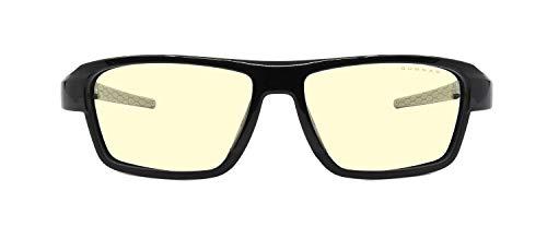 GUNNAR Spel- och datorglasögon | Lightning Bolt 360, 6 belägringsupplaga, bärnsten nyans | Blå ljusglas | Patenterad lins, 65 % blått ljusskydd, 100 % UV ljus | Nästa generation Esports glasögon