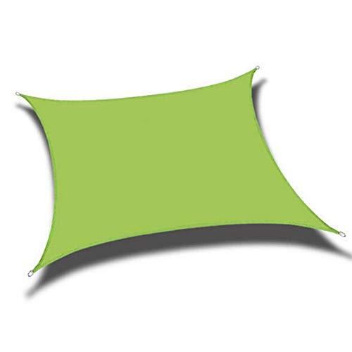 XQHD Toldo Vela de Sombra Impermeable, Malla Sombreo Toldo Vela de Sombra Impermeable Rectangular para Patio, Exteriores, Jardín,Green-3x4m(10X13ftfeet)