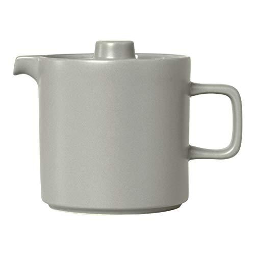 Blomus Teekanne MIO, Kanne, Teebehälter, Henkelkanne, Keramik, mirage gray, 1 L, 63998