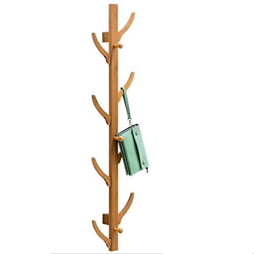 TONGS Wand- Kleiderständer Hanger Bambusvorhang Schlafzimmer Badezimmer Haken Tür-Aufhänger Storage Rack 111X25.5X16Cm. Kleiderablage dgdsfgfdgfd