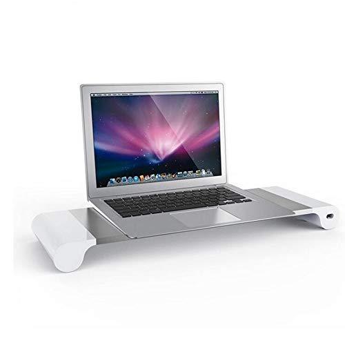 Usb Monitorständer,aluminium Monitorständer Inhaber,ergonomische Bildschirmständer Stand,schreibtischständer Für Tastaturspeicher Multi-medien Laptop Drucker Tv-bildschirm Silber 55x17x5cm(22x7x2inch)