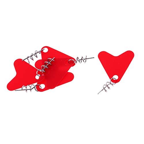 5 st Fiske Tools Spinner Blades Smooth skedar Rigs Rödspätta djup Cup med Lock Pin (Color : Red S)