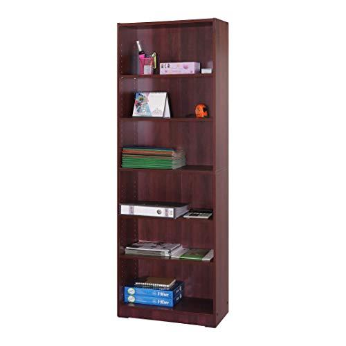 Absolute Deal Bücherregal, 6 Etagen, hoch, Holz, Mahagoni, 60 x 29 x 180 cm