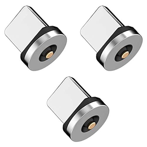 Atlas マグネット式USB充電ケーブル (2.4A) 専用 マグネット端子 (iOS互換)×3個セット