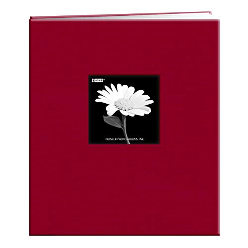 Pioneer MB-811CBF 8 1/2 Inch by 11 Inch Postbound Frame Cover Memory Book, Apple Red
