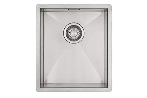 Edelstahl Küchenspüle/Spülbecken MIZZO Quadro 34-40 Flächenbündig/Unterbau - Eckige Edelstahlspüle/spüle 34 * 40 cm